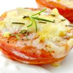 CHEESY BAKED TOMATOES