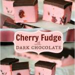 CHERRY FUDGE WITH DARK CHOCOLATE