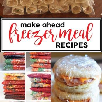EASY RECIPES AND MAKE AHEAD FREEZER MEALS