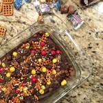 CANDY BAR PRETZEL BROWNIES