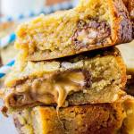 CARAMELY ALMOND BUTTER BARS
