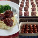 BBQ MEATBALLS WITH MASHED POTATOES