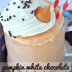 PUMPKIN WHITE CHOCOLATE FROZEN HOT CHOCOLATE