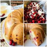 CRANBERRY CAKE WITH WITH WARM VANILLA BUTTER SAUCE