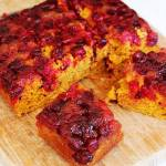 PUMPKIN CRANBERRY UPSIDE DOWN CAKE