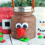 GLITTER CHRISTMAS TREAT JARS
