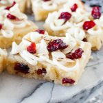 CRANBERRY ALMOND WHITE CHOCOLATE BROWNIES
