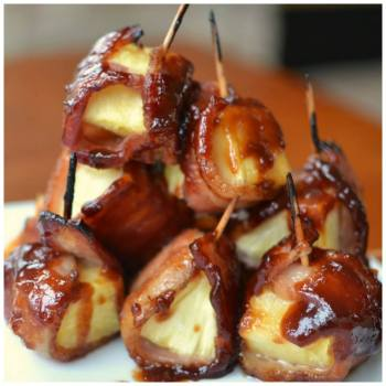 Savory Bacon Wrapped Pineapple Bites