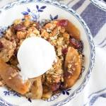 GINGERBREAD CRANBERRY APPLE CRISP