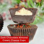 DARK CHOCOLATE ALMOND CREAM CHEESE CUPS
