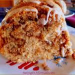 SWEET POTATO PECAN CAKE WITH MAPLE GLAZE