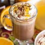 GRAND MARNIER AND  KAHLUA HOT CHOCOLATE LATTES