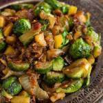 BACON APPLE & CARAMELIZED ONION BRUSSELS SPROUTS