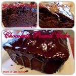 CHOCOLATE POUND CAKE WITH CHOCOLATE GLAZE