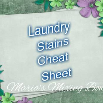 Laundry  Stains Cheat Sheet