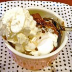 TWO MINUTE CHOCOLATE BREAD PUDDING SUNDAE