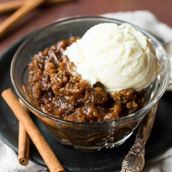SLOW COOKER GINGERBREAD PUDDING CAKE
