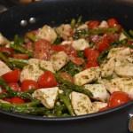 One Skillet Pesto Chicken and Veggies