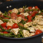 One Skillet Pesto Chicken and Veggies