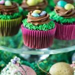 Easter Bird's Nest Cupcakes
