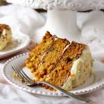 Carrot Cake with Orange Grand Marnier Cream Cheese Frosting