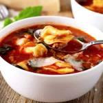 Italian Tomato Tortellini Soup