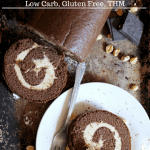 Chocolate Peanut Butter Roll~Low Carb, Gluten Free