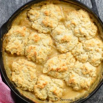 Skillet Biscuits and Sausage Gravy Casserole