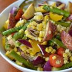 Roasted Vegetable Salad with Lemon Vinaigrette