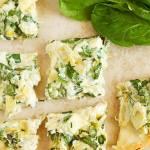 Artichoke Spinach Dip Stuffed Flatbread