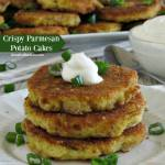 Crispy Parmesan Potato Cakes