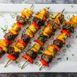 Hawaiian Steak Kabobs