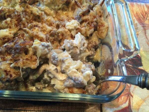 low carb chicken sausage casserole