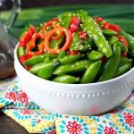 Sesame Ginger Snap Pea Salad