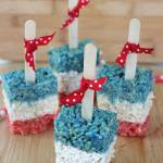Patriot Rice Krispy Treat Pops