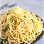 One Pot Lemon Garlic Pasta