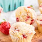Strawberry Coffee Cake Muffins