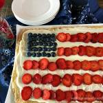 Flag Fruit Sugar Cookie Pizza