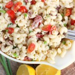 Lemon Dijon Bacon Pasta Salad