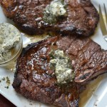 Marinated Herb Butter T-Bone Steaks