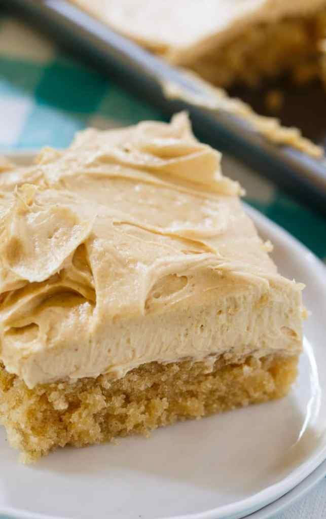 Moist Peanut Butter Sheet Cake