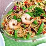 Raspberry Broccoli Salad with Shrimp