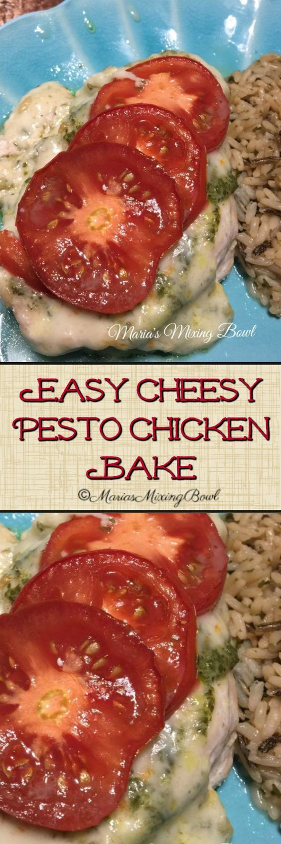 Easy Cheesy Pesto Chicken Bake is a healthy, simple,delicious and requires just minutes of prep time. And the end results are so tasty!!