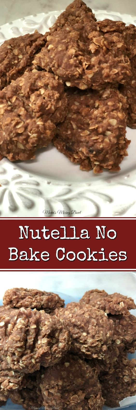 Nutella No Bake Cookies -No bake cookies are a big hit in our house. And add Nutella to the mix just takes it over the top!!