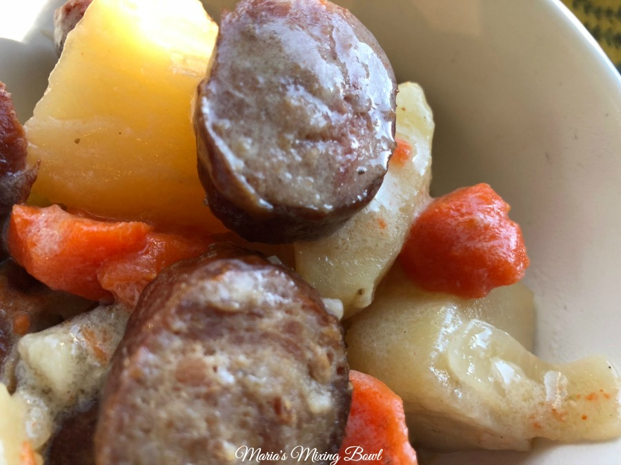 Slow Cooker Sausage Carrots and Potatoes