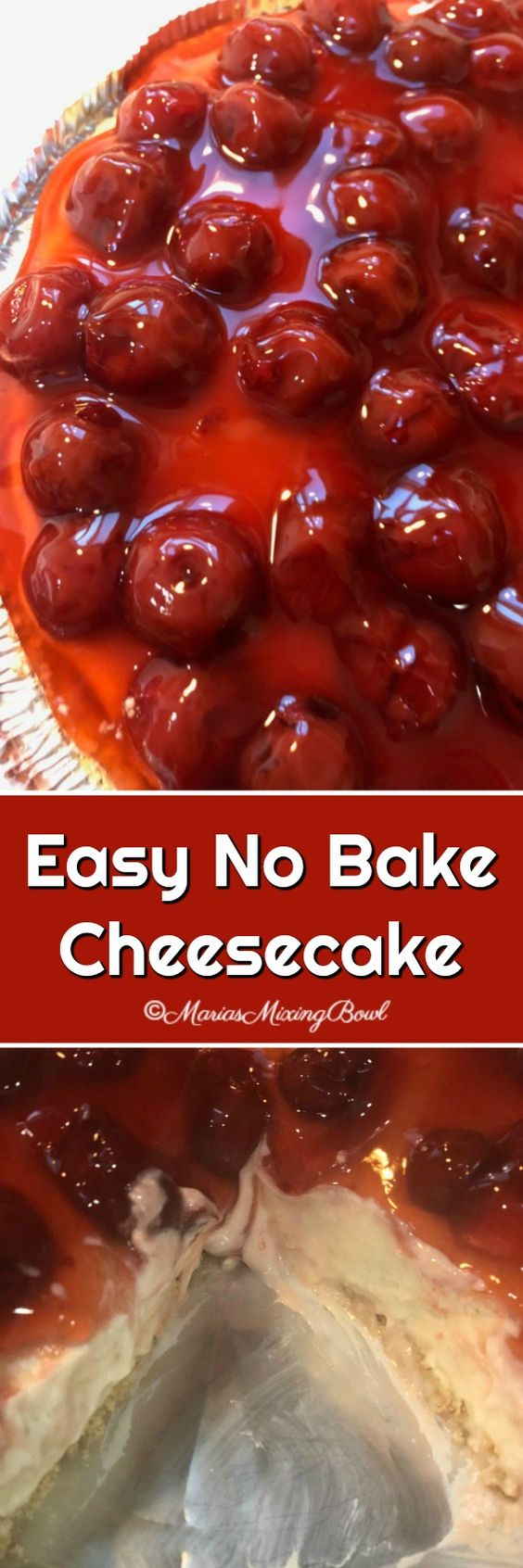 Easy No Bake Cheesecake is a delicious and simple cheesecake that can be made in just a few minutes. One of our go to recipes when time is short and we need a quickie dessert.
