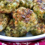 Cheesy Baked Broccoli Bites