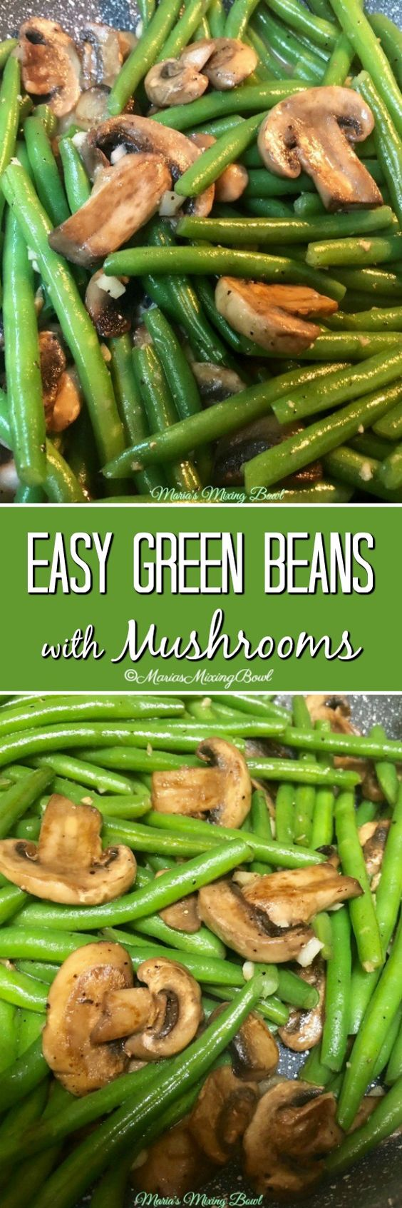 Easy Green Beans with Mushrooms Recipe will take you about 15 minutes from start to finish. Such a simple and delicious recipe the whole family drools over this one!