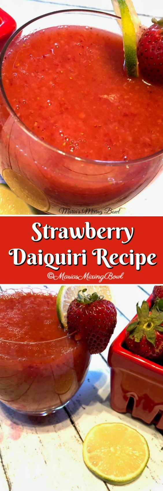 Strawberry Daiquiri Recipe - Break out the blender and whip up a batch or two of these sweet and frosty cocktails!