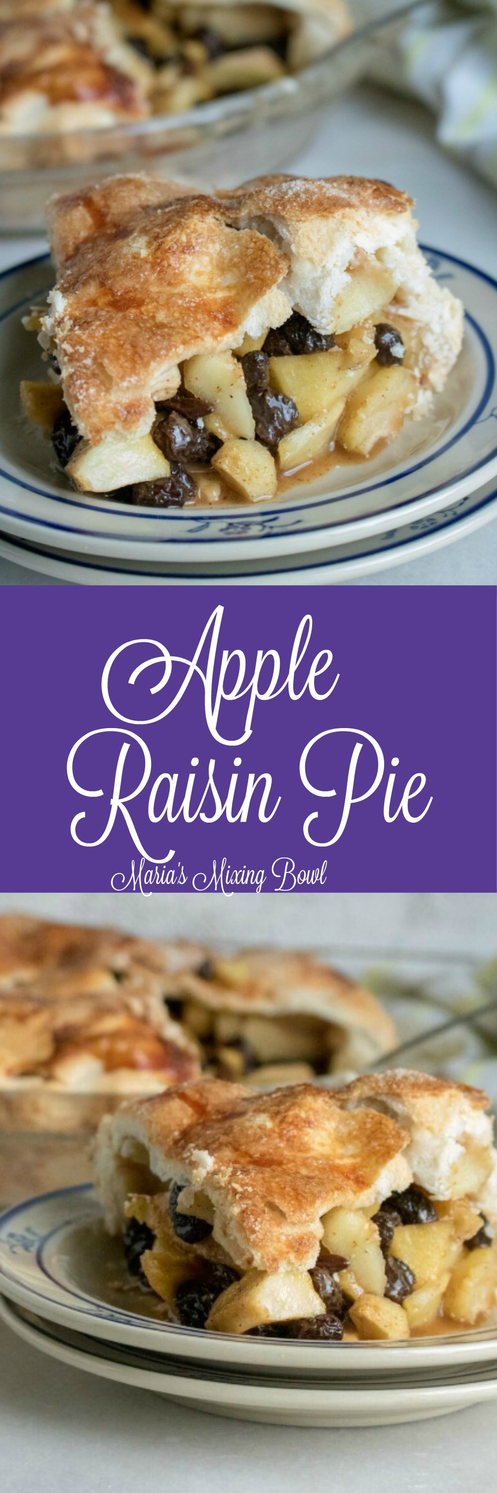 Apple Raisin Pie Recipe - When I first made this pie I was unsure if my family would like it.  Now whenever I serve this pie, someone at the table asks for a second piece.
